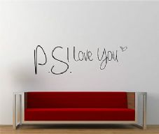P.S I Love You Gloss Vinyl Wall Decal Sticker